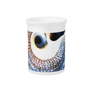Rainbow Mandala Seashell Golden Spiral Yoga Tee Pitcher