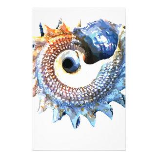 Rainbow Mandala Seashell Golden Spiral Yoga Tee Stationery