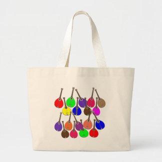 rainbow mandolin large tote bag