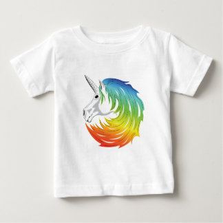 Rainbow Mane Unicorn Baby T-Shirt