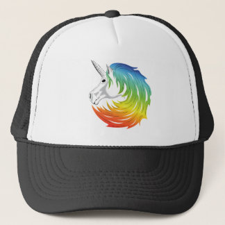 Rainbow Mane Unicorn Trucker Hat