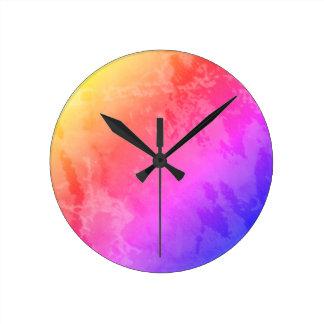 Rainbow Marble Clock