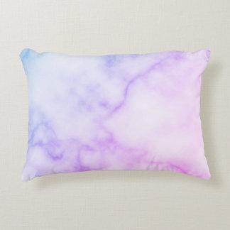 Rainbow Marble Pattern Decorative Cushion
