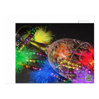 Rainbow Mardi Gras Postcard