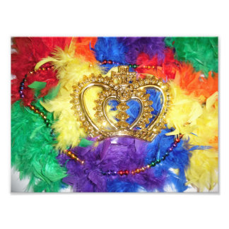 Rainbow Mardi Gras Print