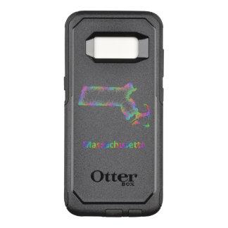 Rainbow Massachusetts map OtterBox Commuter Samsung Galaxy S8 Case