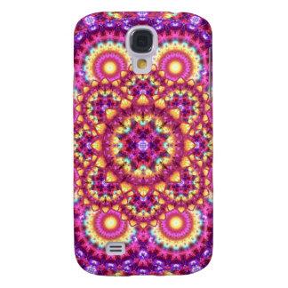 Rainbow Matrix Mandala Galaxy S4 Case