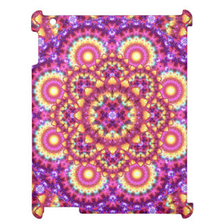 Rainbow Matrix Mandala iPad Cover