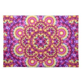 Rainbow Matrix Mandala Placemat