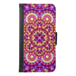 Rainbow Matrix Mandala Samsung Galaxy S6 Wallet Case