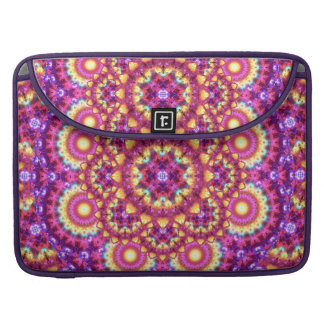 Rainbow Matrix Mandala Sleeve For MacBook Pro