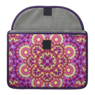 Rainbow Matrix Mandala Sleeve For MacBooks