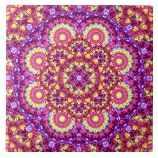 Rainbow Matrix Mandala Tile
