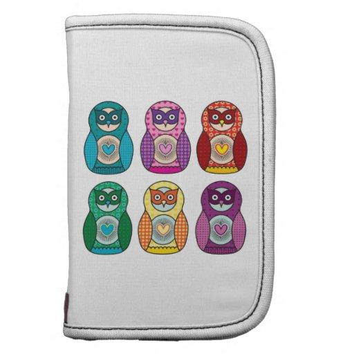 Rainbow Matryoshka Owls Folio Planners