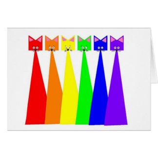 Rainbow Meows Card
