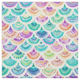 RAINBOW MERMACITA Colorful Mermaid Scallop Fabric