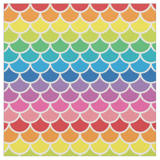 Rainbow Mermaid Fish Scales Fabric