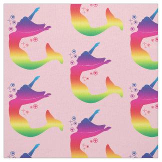 Rainbow Mermaid in Silhouette Fabric