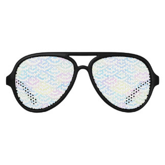 Rainbow Mermaid Pastel Aviator Sunglasses