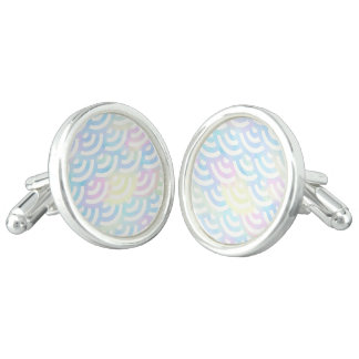 Rainbow Mermaid Pastel Cufflinks
