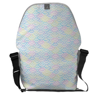 Rainbow Mermaid Pastel Messenger Bag