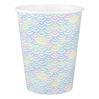Rainbow Mermaid Pastel Paper Cup