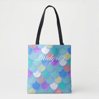 Rainbow Mermaid Scales Fish Scales Tote Bag