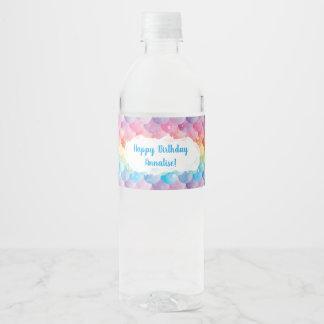 Rainbow Mermaid Water Bottle Labels