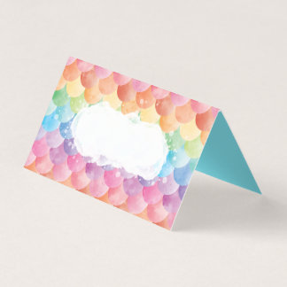 Rainbow Mermaid Watercolor Place Cards