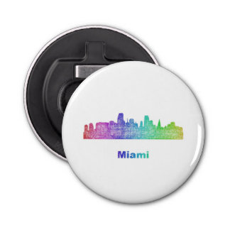 Rainbow Miami skyline Bottle Opener