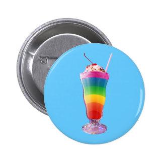Rainbow Milkshake Pinback Button