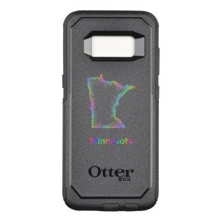 Rainbow Minnesota map OtterBox Commuter Samsung Galaxy S8 Case