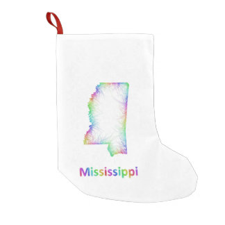 Rainbow Mississippi map