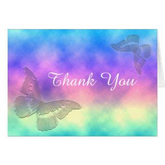 [Rainbow Mist] Butterflies ThankYou Card
