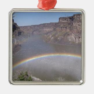 Rainbow Mist Silver-Colored Square Decoration