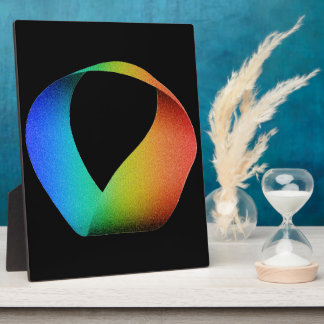 Rainbow Mobius Strip Display Plaques