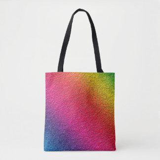 Rainbow Molten Glass Splash Effect Tote Bag