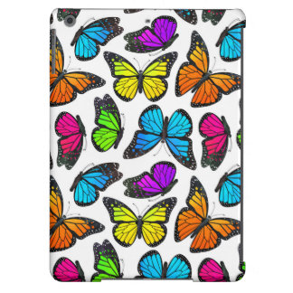 Rainbow Monarch Butterfly Pattern iPad Air Covers