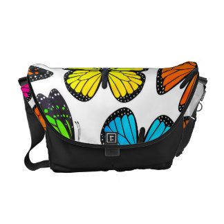 Rainbow Monarch Butterfly Pattern Courier Bags
