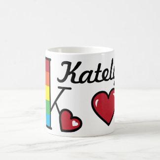 Rainbow Monogram Mug K Heart Rainbow Mug