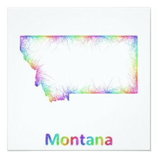 Rainbow Montana map Card