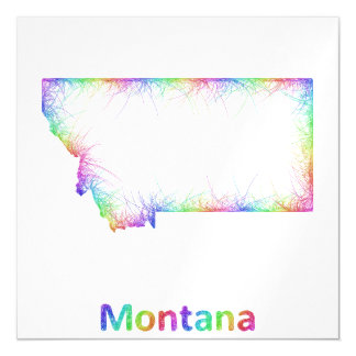 Rainbow Montana map Magnetic Invitations