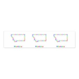 Rainbow Montana map Napkin Band