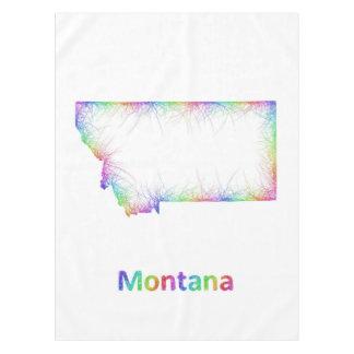Rainbow Montana map Tablecloth