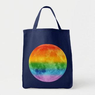 Rainbow Moon Canvas Bags