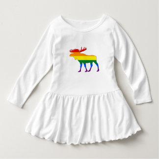 Rainbow Moose Dress