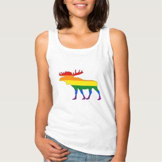 Rainbow Moose Singlet
