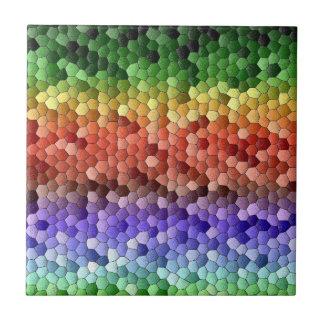 Rainbow Mosaic Ceramic Tile