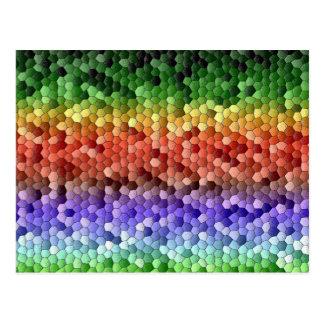 Rainbow Mosaic Postcard