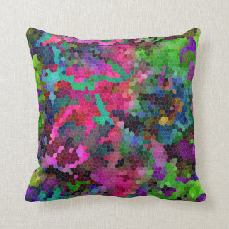 [Rainbow Mosaic] Stained-Glass Effect Cushion